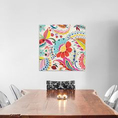 "East Urban Home Boho Paisley II Painting Print on Wrapped Canvas Size: 18"" H x 18"" W x 1.5"" D"