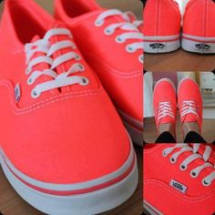ea6be78b48a7 I love this orange color! Neon Vans