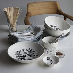 Black and white is beautiful. Iittala Taika White Large Coupe Bowl - $35