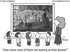 Muddy Colors: Art and Humor Satire, Memes Arte, Teacher Cartoon, Art Jokes, Tech Humor, Famous Artwork, Simple Cartoon, School Humor, Art Classroom
