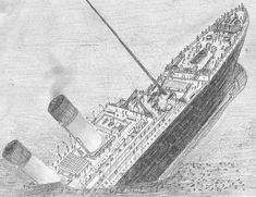 Image result for how to draw the titanic ship titanic titanic ship ship drawing titanic - Titanic dessin ...