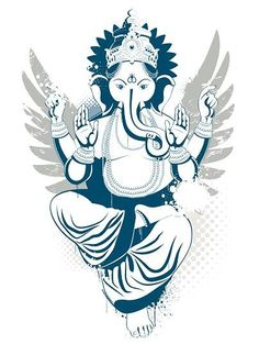 Ganesh arms; crown