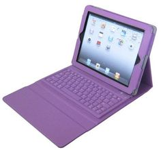 Accforcity Purple New Ipad3 , Ipad2 Case with Keyboard & Bluetooth , Leather Case for Apple New Ipad3 , Ipad 2 $23.99