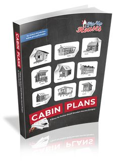 The 27 Best Small Cabin Plans (Garden Shed Plans, Micro Cottages, Small Houses) - Small Wooden House Plans Mini House Plans, Wooden House Plans, Wooden House Design, Small Wooden House, Small House Floor Plans, Tiny House Design, Wooden Houses, Cottage Design, A Frame Cabin Plans