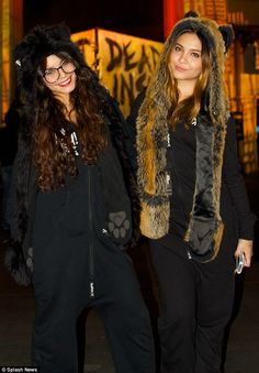 Vanessa Hudgens donned a wolf ears and paw print headdress to attend Universal Studios' Halloween Horror Nights