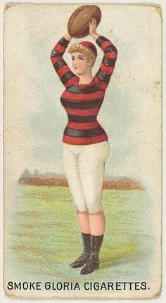 """Issued by the American Cigarette Company, Ltd. (Montreal). From the series """"Sports Girls"""" (C190), issued by the American Cigarette Company, Ltd., Montreal, to promote Gloria Cigarettes, ca. 1889. The Metropolitan Museum of Art, New York. The Jefferson R. Burdick Collection, Gift of Jefferson R. Burdick (Burdick 257, C190.16)"""