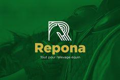 Repona - equine logo design