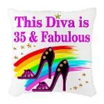 35TH PRIMA DONNA Burlap Throw Pillow http://www.cafepress.com/jlporiginals/6515967 #35thbirthday #35yearsold #Happy35thbirthday #35thbirthdaygift #35andfabulous #turning35  #happy35th