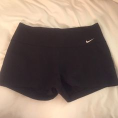 Nike Dri Fit Black Spandex Shorts Black shorts! No fading! Very lightly loved! Excellent condition! Nike Shorts