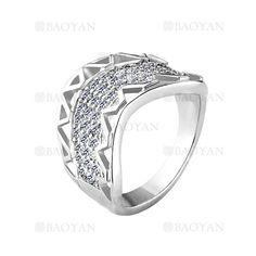 anillo con cristal de moda de plateado para mujer-BREGG76024