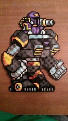 Megaman X Mech Suit VILE pixel art bead sprite by MelParadise