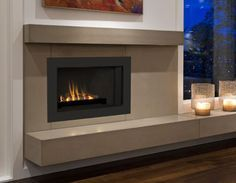 contemporary fireplace mantels and surrounds - Google Search