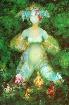 By Leonor Fini: Women are rising, remembering our sacred innate connection  to the Earth, reclaiming our shared voice and power
