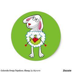 Colorida Oveja Tejedora. Sheep. #sticker