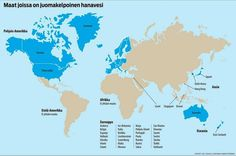 Yhdysvaltain terveysviranomaisten mukaan maailmassa on vain 38 maata, joissa matkailija voi juoda hanavettä.
