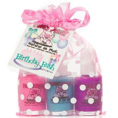 Piggy Paint - Nail Polish Gift Set Birthday Bash - 3 Piece(s) Safe Nail Polish, Kids Nail Polish, Natural Nail Polish, Nail Polish Sets, Birthday Bash, Birthday Presents, Birthday Ideas, Friendly Nails, Stocking Stuffers For Kids