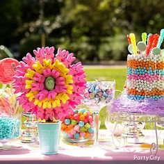 Peeps centerpiece  Easter Party Ideas and Easter Baskets for Kids - Party City