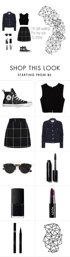 """""""I'm still waiting"""" by francaispapillon ❤ liked on Polyvore featuring Converse, Zara, Acne Studios, Christian Dior, Bobbi Brown Cosmetics, NARS Cosmetics, Sisley, women's clothing, women and female"""