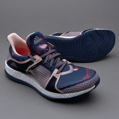 promo code 2d581 7c175 adidas Pure Boost X TR - Collegiate Navy Vapour Pink Red - Womens Shoes -