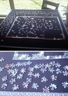 Portable Puzzle Board. Need: Cheap Wood Board (high Density Cardboard, Etc)