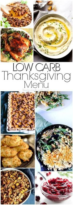 Low Carb Recipes for Thanksgiving | These low carb Thanksgiving recipes are a mix of keto recipes and low carb recipes that cover all of your favorite Thanksgiving recipes. If you're making Thanksgiving dinner this year and need some low carb Thanksgiving recipes we've got everything from turkey to low carb side dishes, to low carb dessert recipes!