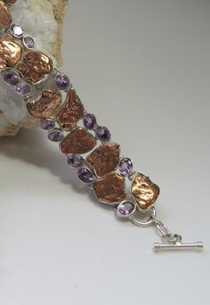 Native Copper and Amethyst Bracelet