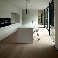 """This kitchen Hay @haydesign About a Stool (AAS 32) #kitchen #kitchendesign #flooring #white #whitespace #lighting #interior #interiors #interiordecor…"""