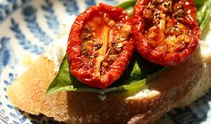 Slow-roasted tomatoes freezer recipe - can be stored for up to 1 year in freezer.