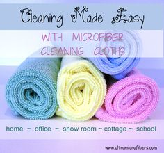 These cloths make washing dishes and general kitchen clean up much easier. Microfiber dish cloths. $5 each cloth, buy more and save.  www.ultramicrofibers.com #microfiber #cleaning