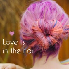 Check out the blog for the ultimate in hair romance: https://www.rainbowhaircolour.com/valentines-hair-love-is-in-the-hair/  Hair pictured by Elbiemuahair for Rocknrollbride.
