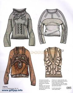 Яндекс.Фотки Knitwear Fashion, Knit Fashion, Fashion Flats, Boho Fashion, Fashion Design Template, Fashion Design Sketches, Flat Drawings, Drawing Clothes, Diy Clothing