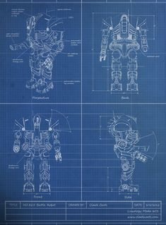 Robot blueprint.