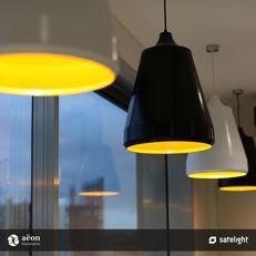 Tajine Tall Pendant Light - Aëon Illumination - The Tajine lighting collection clustered together in over an island bench.
