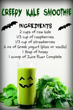 Try the Juice Plus+ Complete Creepy Kale Smoothie! … Try the Juice Plus+ Complete Creepy Kale Smoothie! Smoothie Prep, Raspberry Smoothie, Apple Smoothies, Good Smoothies, Best Smoothie Recipes, Shake Recipes, Juice Recipes, Healthy Recipes, Healthy Cooking
