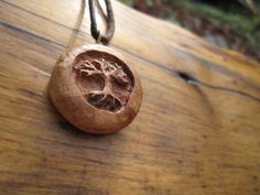 Tree Necklace Tree Wood Pendant carved in reclaimed by mysticorb, $38.00