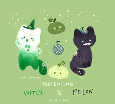 Witch & Melon     © 2016 Nadia Kim     Series of illustrated gifs.                                                       © Copyright Protec...