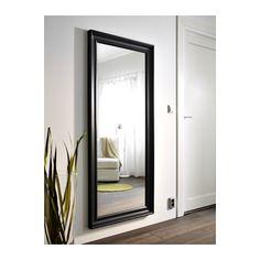 HEMNES Spejl, sortbrun sortbrun 74x165 cm