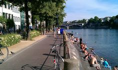 The banks of the Rhine River are the best spot in Basel for a great run