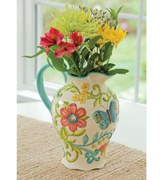Madison's Garden Hand painted Ceramic Pitcher from http://www.winterthurstore.com