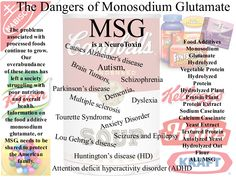 Monosodium Glutamate (MSG) - The Addiction You Never Knew You Had Studies have been somewhat inconclusive, though many in the scientific community believe that some neurological orders and behavioral issues may be caused by monosodium glutamate. Attention deficit disorder, anxiety attacks, neurological disorders such as Alzheimer's, fibromyalgia, MS, Parkinson's and even autism may be caused by or intensified by severe allergy or sensitivity to monosodium glutamate.