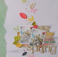 Spring at Studio Calico #scrapbook