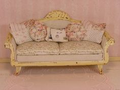 Dollhouse Miniature 1/12 One Inch Scale Shabby Chic by MostlyMinis, $40.00