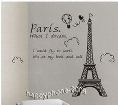 FOR THE WALLS....DIY Decorative Wall Paper Sticker-Eiffel Tower 110 on eBay!