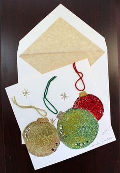 Christmas Ornaments Card – NATALIESARABELLA