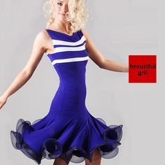 Latin Ballroom Dance Dress Modern Salsa Waltz Standard Long Dress#FM010 4 Colors in Ballroom | eBay