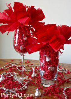 I recently designed and made these easy DIY graduation party centerpieces for a friend graduating from The Ohio State University! OH-IO! Red Centerpieces, Graduation Party Centerpieces, Graduation Decorations, College Graduation Parties, Graduation Diy, Grad Parties, Razorback Party, School Reunion Decorations, Nurse Party