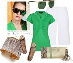 """""""Etcetera Spring / Summer 2013 - Spring into the Season with Color of the Year: Emerald Green"""" by lcronican ❤ liked on Polyvore"""