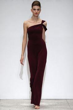 Asymmetric one shouldered gown