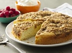 From Betty's Soul Food Collection...  Shake things up with this ooey-gooey, cinnamon-flavored coffee cake, deliciously drizzled with a buttery brown sugar topping that complements a cup of fresh java!
