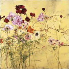 Claire Basler - Ranunculus, Peonies and Red Tulips
